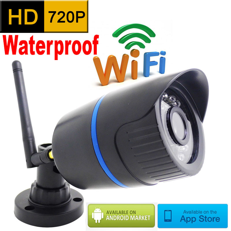 IP-Kamera 720p HD Wifi Outdoor wasserdicht CCTV-Sicherheitssystem Überwachung Mini Wireless Cam Infrarot P2P wetterfest Mini Home