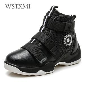 Image 1 - Autumn Winter Kids Boots Boys Shoes Genuine Leather Fashion Ankle Snow Boots Plush Warm Sneakers Waterproof Children Martin Boot