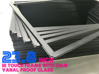 Obeytec 23.8 IR Touch Frame, Dust proof, Sunlight Visible, Narrow Boarder, 2 Points, whole thickness with glass only 7.9 mm