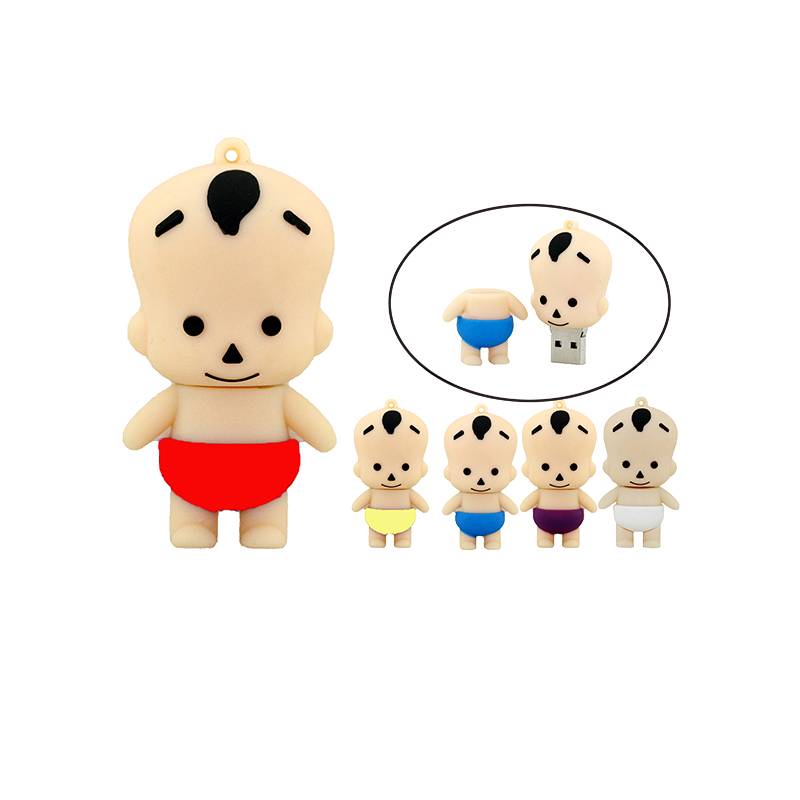 cartoon lovely boy baby kid Shape USB Memory Flash Drive 2G 4GB 8GB 16GB 32GB thumb stick cartoon pendrive