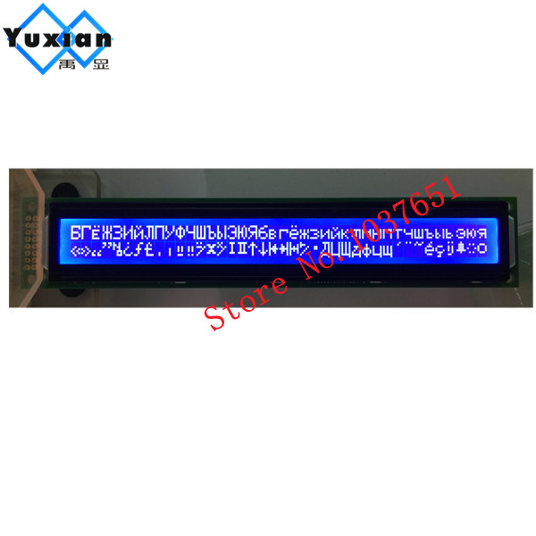 2PCS free ship 4002A 402 40x2 lcd display blue with russian cyrillic font character module 5v