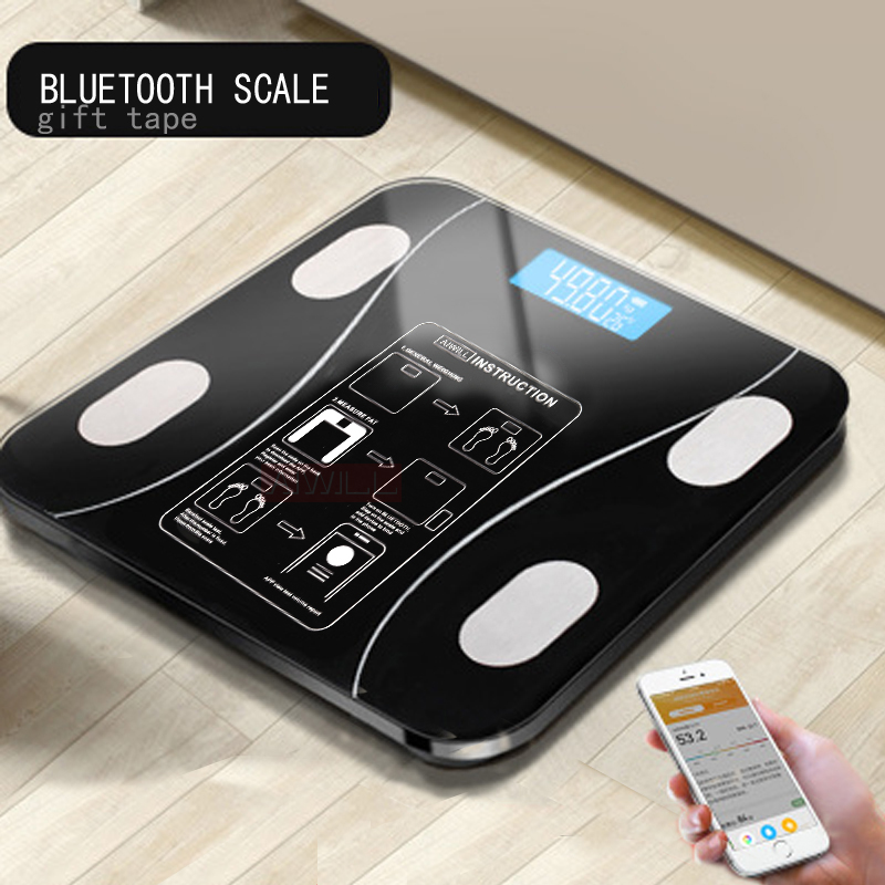 AIWILL Household LED Digital Weight Bathroom Balance Bluetooth Android Or IOS Body Fat Scale Floor Scientific Smart Electronic(China)