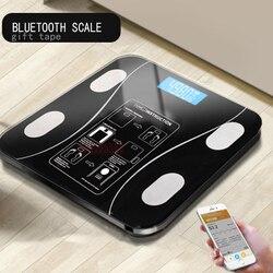 AIWILL hogar LED Digital peso balanza de baño Bluetooth Android o IOS Escala de grasa corporal piso científica electrónica inteligente