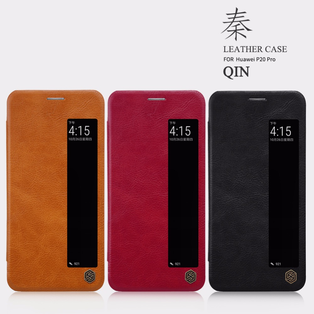 Nillkin Vintage Qin flip PU leather cover For Huawei P20 pro case Wallet Leather Case Card Holder For Huawei P20 pro