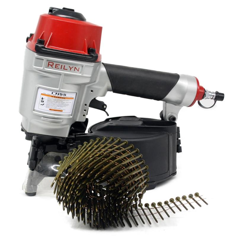 Sheating Pneumatic Air For Tool CN55 CN70 Roof Nailer Wood Reilyn CN80 Working Nailer Furniture Air Nailer Tools Coil