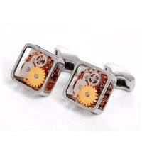 Gümüş Dişli Için Steampunk Kol Düğmeleri Erkek Gömlek Kol Düğmeleri Yüksek Kalite Moda Stil Kol Düğmeleri Parti & İş Kol Düğmeleri Hediye