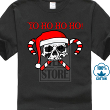 0e059ff54 Yo Ho Ho Ho Santa Skull Candy Christmas Shirts For Men Ugly Christmas T  Shirt(