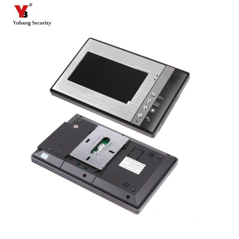 Yobang Security freeship 7-inch LCD video Intercom Indoor Unit only indoor screen Wired Video Door Phone without outdoor camera