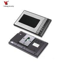 Yobang безопасности Бесплатная доставка 7-дюймовый ЖК-дисплей видеодомофон внутреннего блока только в помещении экран Проводной видео-телефон двери без открытый камера