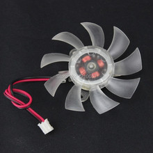 2 Pieces lot 12V 2 Pin PC Graphics Video VGA Card Heatsink Cooler Cooling Fan 55mm