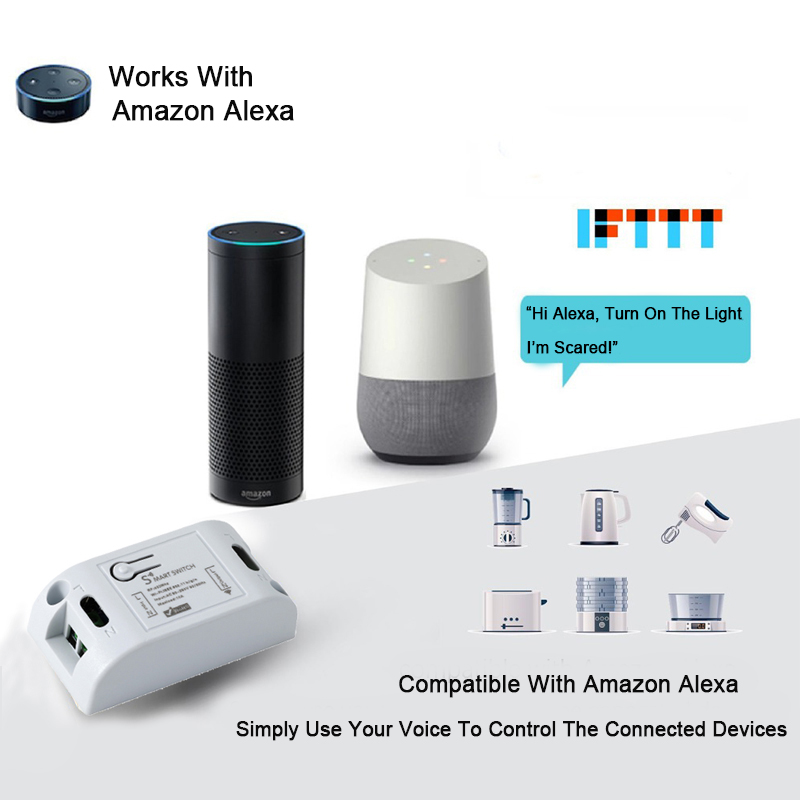 433Mhz Wifi Wireless RF Relay Remote Control Switch Wifi Light Switch Smart Home App Control Work With Amazon Alexa DIY in Remote Controls from Consumer Electronics
