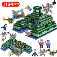 1134PCS The Ocean Monument Building Blocks Compatible Legoingly Minecraft 21136 Figures Sets Bricks Toy For Kids Christmas Gifts
