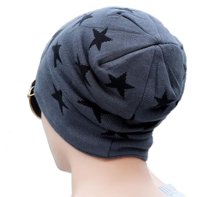 092ce02fbb8 placeholder 2018 New Fashion unisex Beanie Winter hats for men Ski Hat Head  Cap Plus Velvet star