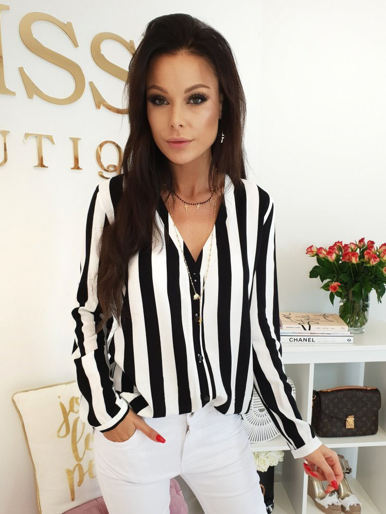 HTB1nVqpav1H3KVjSZFBq6zSMXXai - Blouse Women Casual Striped Top Shirts Blouses Female Loose Blusas Autumn Fall Casual Ladies Office Blouses Top Sexy