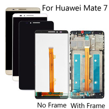 High Quality 6.0 inch For Huawei Ascend Mate 7 Mate7 MT7 LCD Display + Touch Screen Digitizer Assembly Replacement With Frame