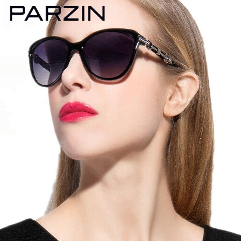 Parzin lunettes de Soleil Polarisées Femmes Femelle Lunettes de Soleil Dames Lunettes de Conduite Oculos De Sol Feminino Nuances Avec Le Cas 9500