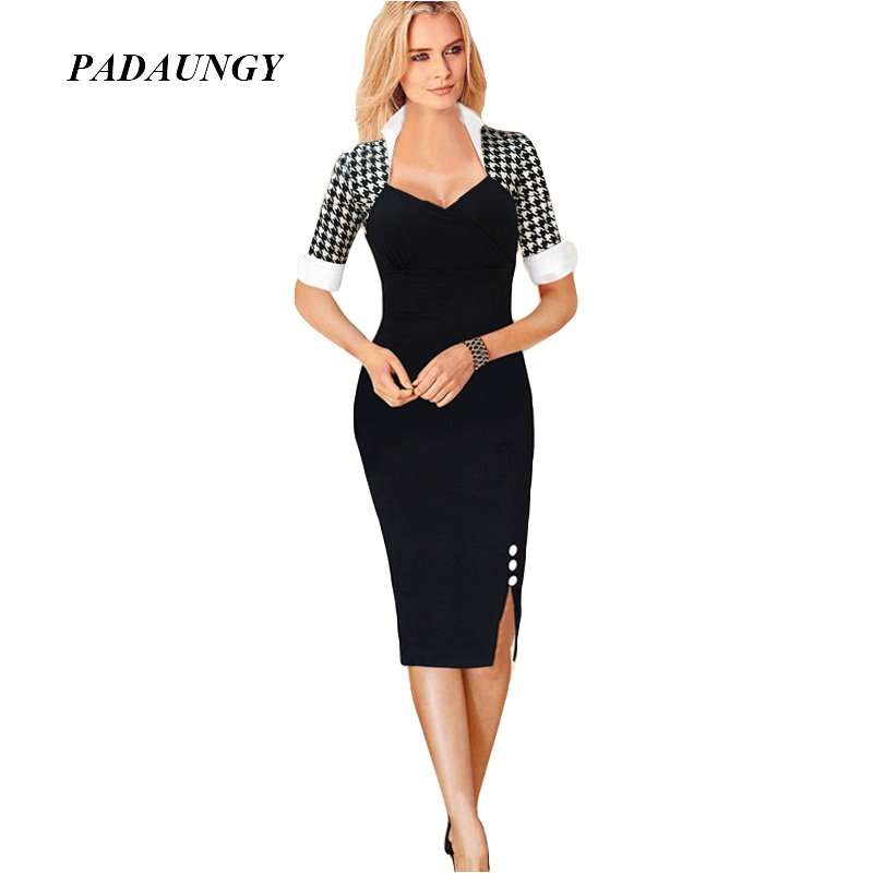 9cddbc8c82 Summer Women Dress Party Black Red Fashion Brand Formal Female Clothes Work  Office Ropa Vestidos de ...