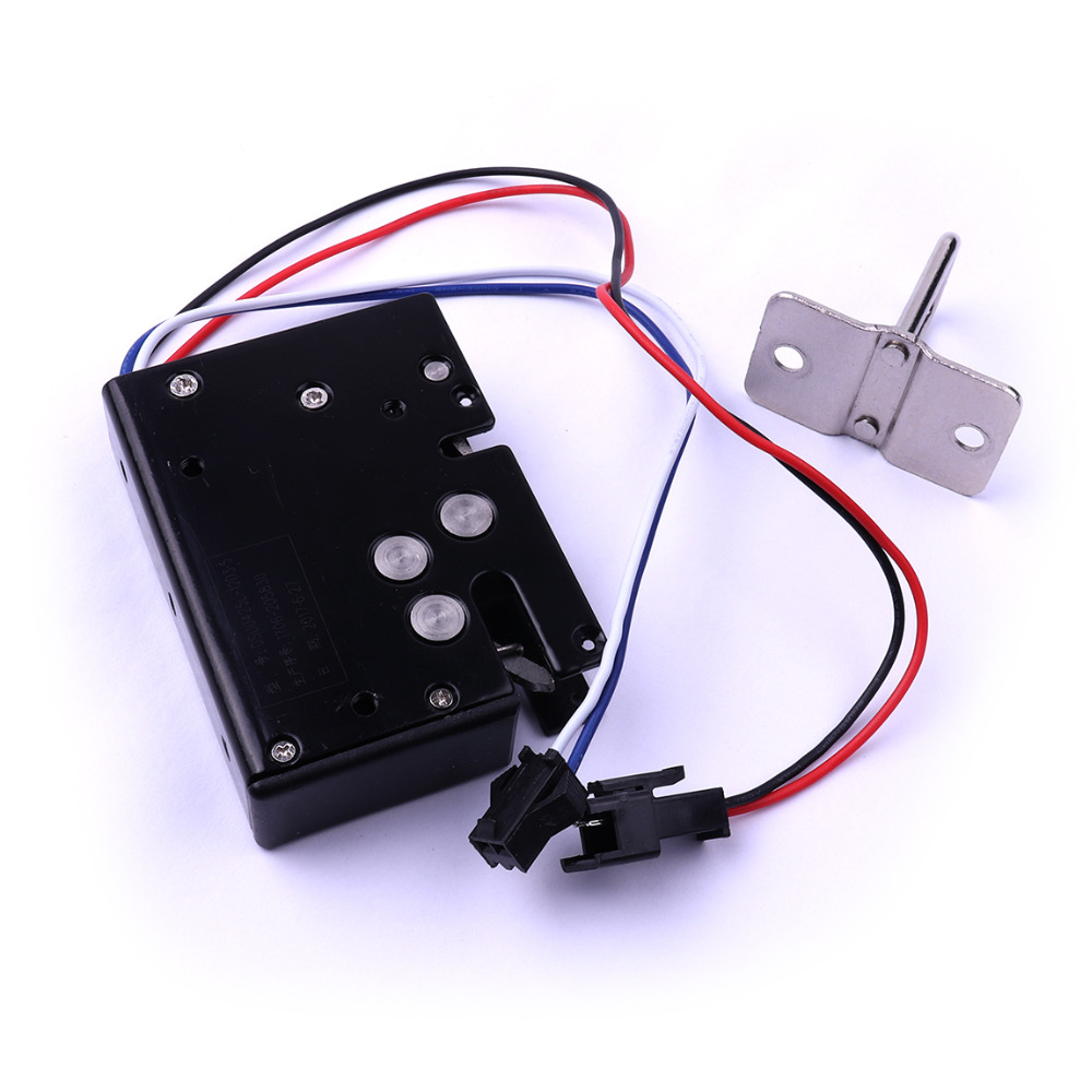 1pc 12V Black Smart Electric Lock Electromagnetic Lock for Express Cabinet Vending Machine Solenoid Lock Electronic Door Locks vending machine locks tubular key cylinder locks water vending machines lock 5 pcs