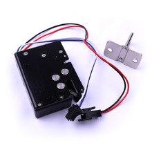 Black 12V Electric Lock Smart Electromagnetic Lock for Express Cabinet Vending Machine Solenoid Lock Electronic Door Lock Locker