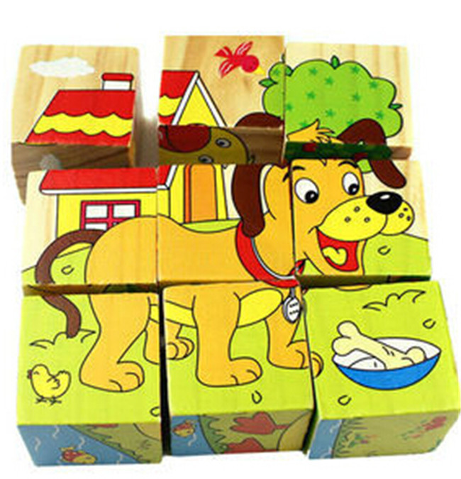 LAIMALA Jigsaw Wooden Animal 3D Puzzle Parent Child Game