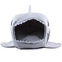 2 Size Dog Beds Warm Soft Dog House Pet Sleeping Bag Shark Dog Kennel Cat Bed