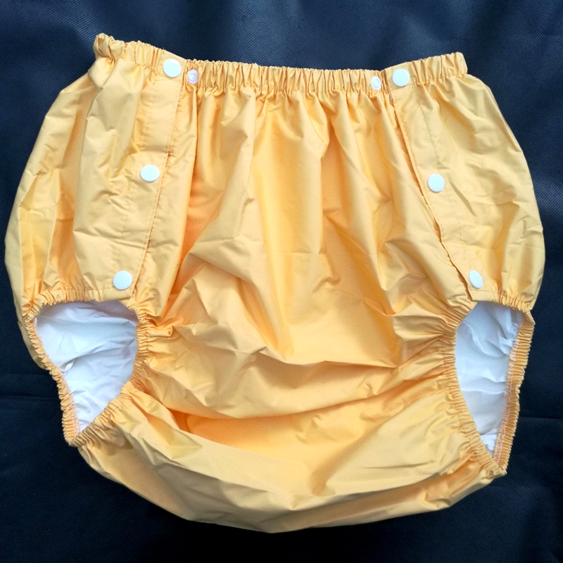 Free Shipping FUUBUU2204-YELLOW-XXL  Part Safety Trousers/ Physiological Pants/Adult Diaper/incontinence Pants /Pocket Diapers