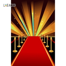 Laeacco Red Carpet Stage Star Light Backdrop Portrait Photography Backgrounds Customized Photographic Backdrops For Photo Studio