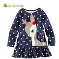 2-6 Years Baby Girls T-shirt Hot Sales Design Cotton Shirt For Girls Infantil Kids 2015 Long-sleeve Clothing Roupas Infantis