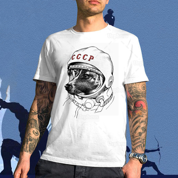Laika Space Traveler CCCP Tshirt The Space Dog Astronaut Puppy Laika Shirt