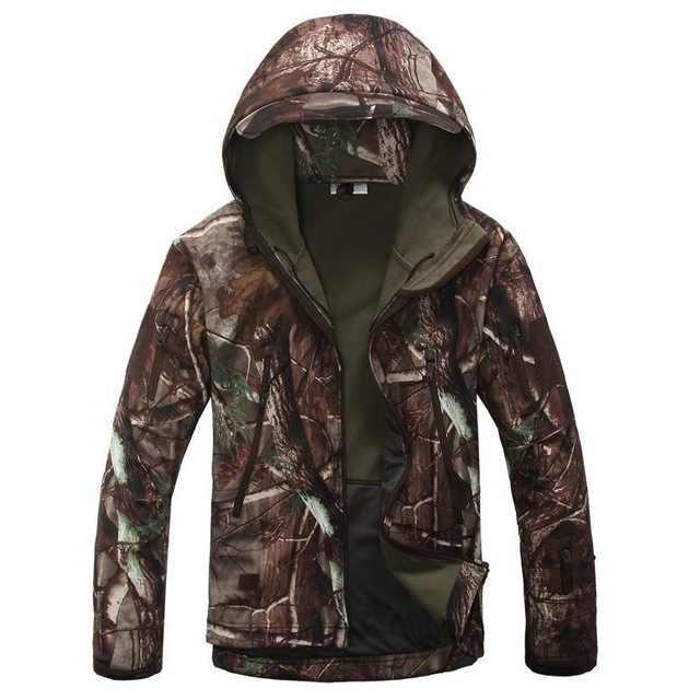 Merodeador de la piel de tiburón, Softshell V5 táctico militar chaqueta hombres chaqueta abrigo impermeable con capucha de camuflaje ejército ropa de camuflaje