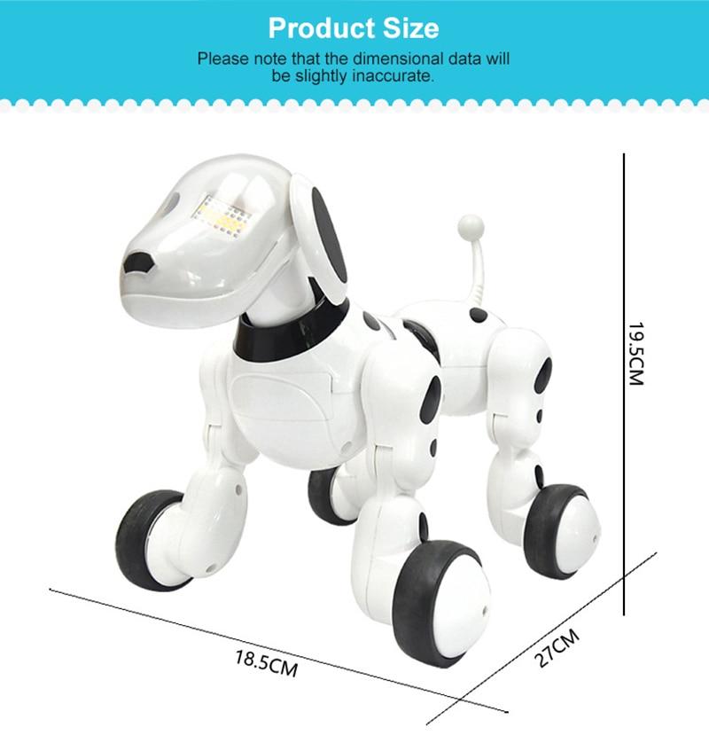estimação inteligente cachorro robô brinquedo 2.4g inteligente