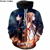 PLstar Cosmos 2018 nieuwe collectie hoodies Anime Sword Art Online 3D Print Sweater Mens Womens SAO Hoody Harajuku Trui ZH255
