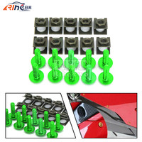 Universal 6mm Motorcycle Fairing Screw Kit Set Screws For Honda St1300 450 Crf Cbr 600