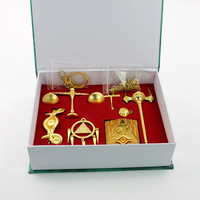 COSANER Duel Monsters Key Chains a Set With Gift Box Silver Gold Metal Keychain New Gift Key Chain For Boys Key Ringgift