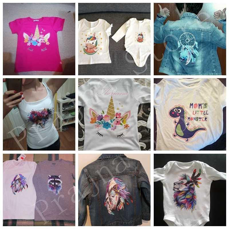 Prajna Schönheit Mädchen Bügeln Aufkleber Wärme Transfer Vinyl Patch Thermische Eisen Auf Transfer Für Kleidung Baby T-shirt Cartoon Appliques