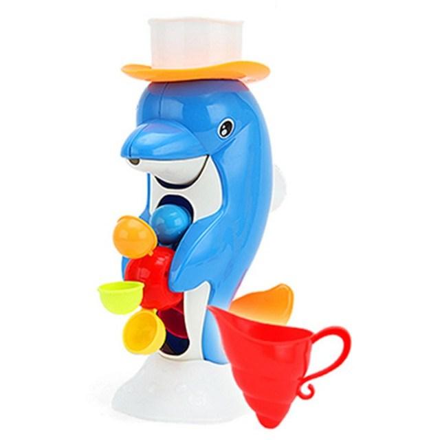 A Nova Listagem Crianças Torneira Golfinho Brinquedos de Banho Brinquedo Do Banho Do Bebê na Casa de Banho Dos Miúdos Presente Ferramenta de Pulverização de Água Para Meninos Das Meninas Do Bebê