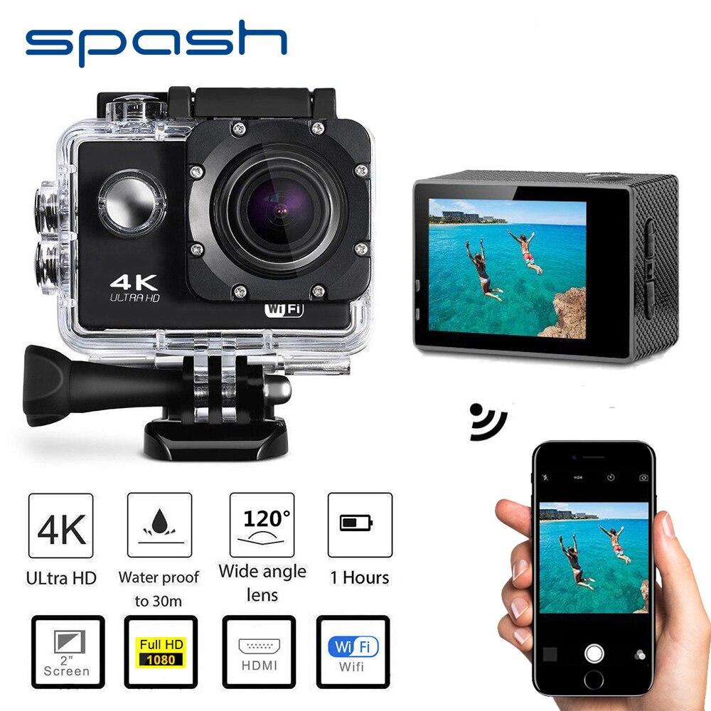 Spash Étanche Caméra Vidéo 4 K HD 1080 P Sport Caméscope DVR Caméscope WIFI Télécommande DV Action Recoder Large angle Cam