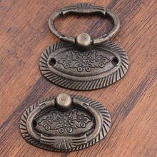 Rustico vintage drop rings drawer knobs pulls unfold install diy antique brass furniture handles cheaper good simple handles