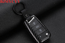 BJMYCYY Car keys decorative key bag For Volkswagen T-ROC 2018 Accessories(China)