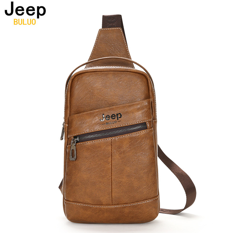 Aliexpress.com : Buy JEEP BULUO Famous Brand Man Chest Bag Cow ...