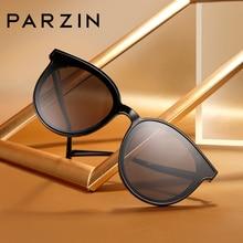 Retro Sunglasses PARZIN Sunshade Large Frame High-Quality Fashion Brand Designer Metal