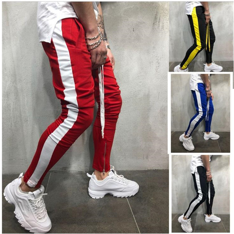 2019 Fashion New Streetwear Sweatpants For Men Causal Sportswear Pants Black White Trendy Men's Hip Hop Sweatpants Trousers