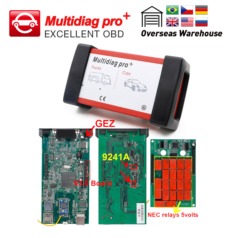 Automobiles & Motorcycles Multidiag Pro Obd Ii Cdp Tcs Cdp Pro Bluetooth 2016.1/2015.r3 Software Obd2 Scan For Cars/trucks Obdii Auto Diagnostic Scanner Code Readers & Scan Tools