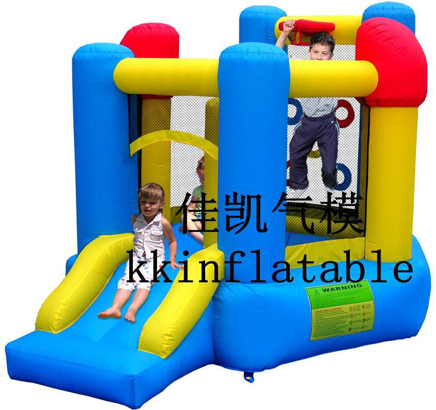 Childrens Playground Castle Balloon Slide and BouncerChildrens Playground Castle Balloon Slide and Bouncer