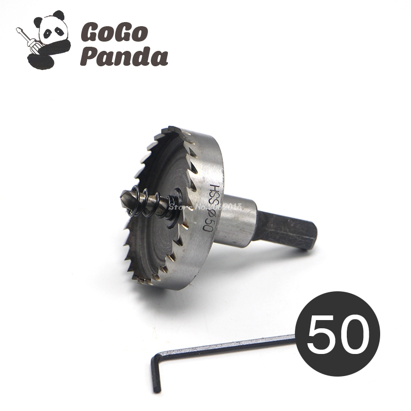 цена на GoGoPanda 50mm 1.97 HSS Metal Core Drill Bit Positioning Hole Saw High Speed Stainless Steel For Plastic Wood Aluminum Metal