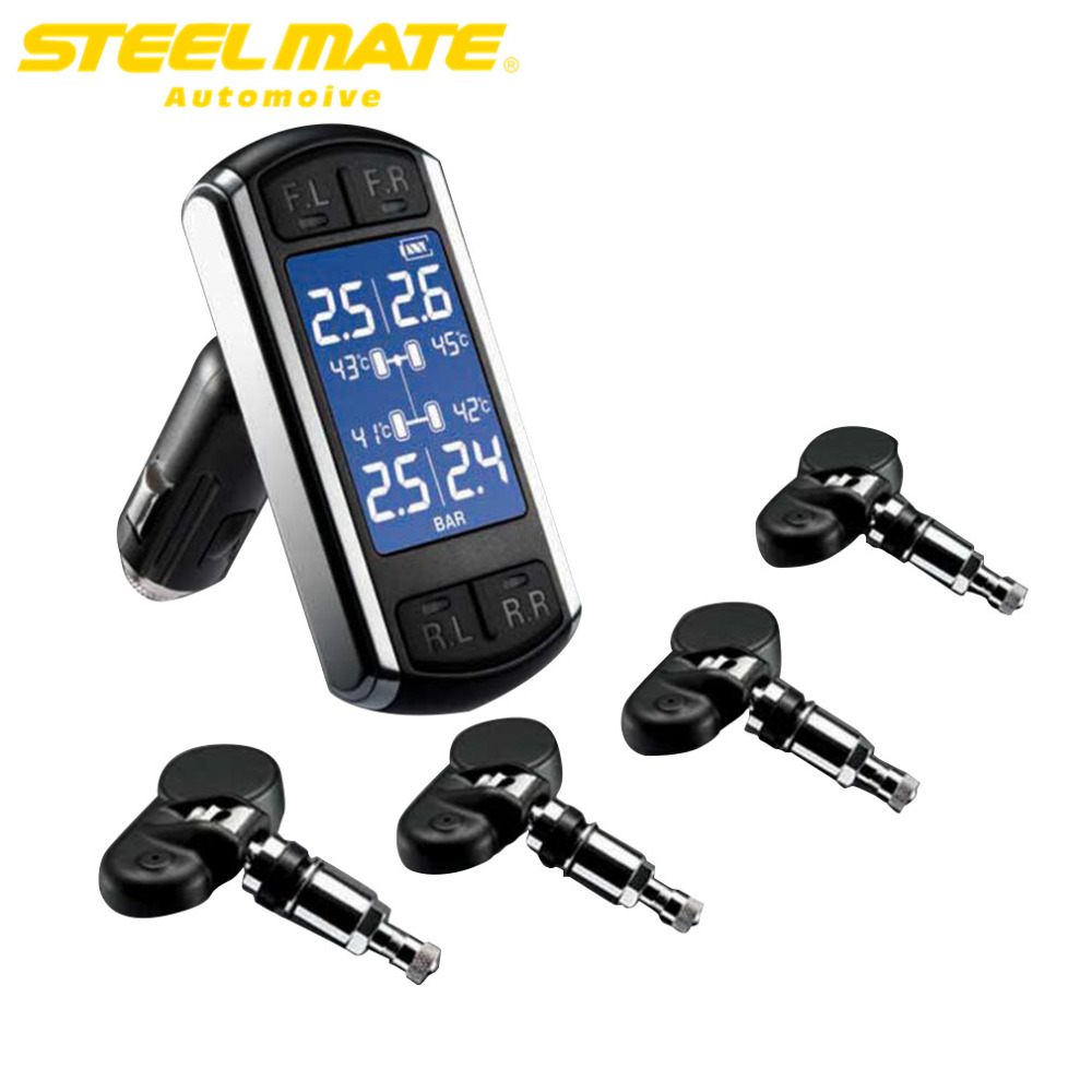 Steelmate TP-08 Cigarette Lighter Plug LCD Display TPMS Wireless Transmission TPMS Adjustable Display Viewing Angle