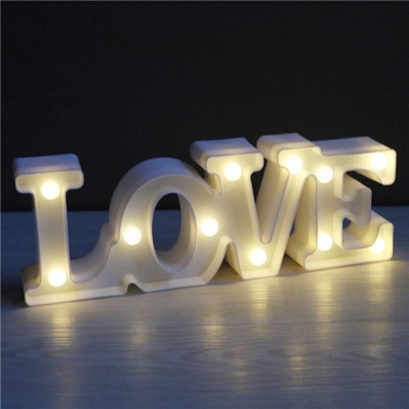 Luzes da Noite luminaria novidade romantic love letter Function 4 : Lampada Led/lamparas/led Lamp Indoor