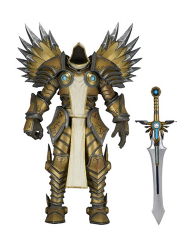 17cm Game WOW Dark Seraphim Tyrael Archangel The Lich King Arthas PVC Action Figure Toys Gifts Model Collections GS009 1