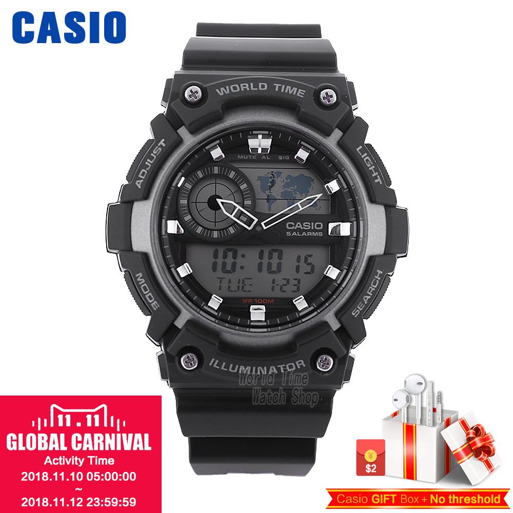 Casio watch Stylish and versatile sporty electronic mens watch AEQ-200W-1A casio f 200w 1a
