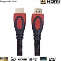 Groothandel 20 stks/partij 15 m 50 ftultra hoge snelheid hdmi kabel ondersteuning audio return channel-dubbele kleur